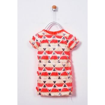 NEON ORANGE Girls' Casual Dress 19126068100