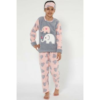 Girl Gray - Pink Well Soft Pajama Set 4527 Click to enlarge