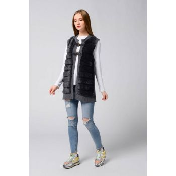Women's Anthracite Plush Vest 101221196281