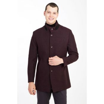Woolen Pattern Coat 85090
