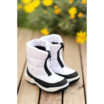 White Unisex Boots A23277-19