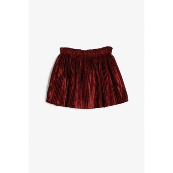 Red Girl's Pleated Skirt 0KMG79468ZK