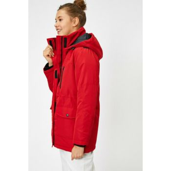 Women's Red Coat 0KAL08212OW