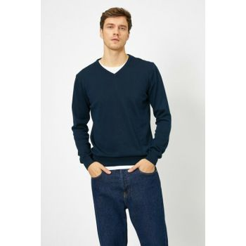 Men's Navy Blue Pullover 0KAM92074LT