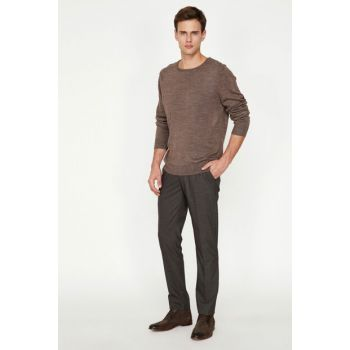 Men's Coffee Pocket Detailed Pants 9KAM41682NW