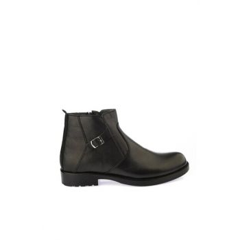 Genuine Leather Black Men Boots & Bootie 02BOH170180A100