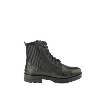 Genuine Leather Black Women Boots & Bootie 02BOY162970A100