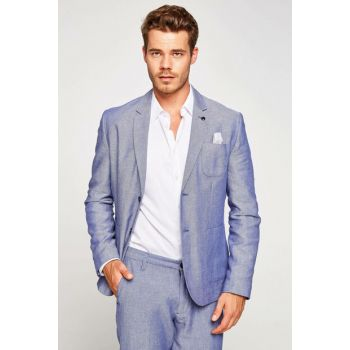 Men's Blue Coat 7YAM59562KW