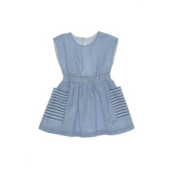 Blue Girls' Casual Dress 19126069100