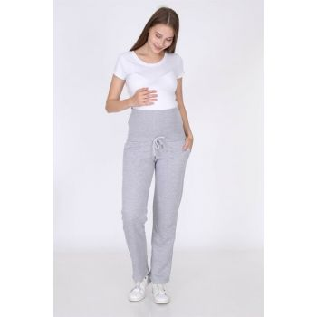 Luvmabelly 8102 - Gray Pregnant Tracksuit MYRA8102