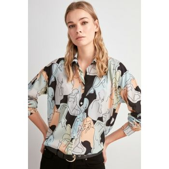 Multicolor Patterned Shirt TWOAW20GO0566
