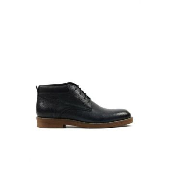 Genuine Leather Navy Blue Men Boots & Bootie 02BOH148740A680