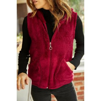 Women's Purple Plush Vest 9YXK4-41824-06