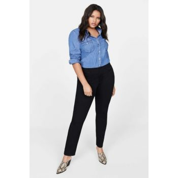 Women's Slim Fit Black Pants 53040469