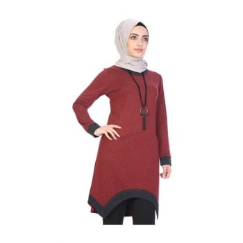 Asymmetrical Cut Tunic with Necklace 4039/100