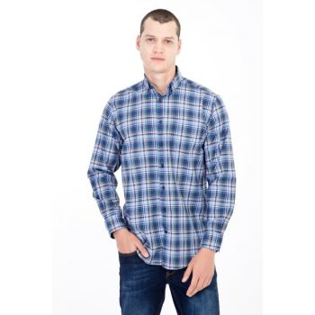Long Sleeve Plaid Shirt 84297
