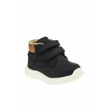 Genuine Leather Navy Blue Children Boots 211 915.18K077B