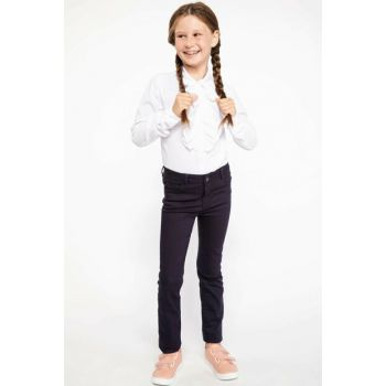 Navy Blue Girls Slim Fit Trousers I9074A6.18AU.BE458