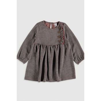 Baby Girl Black Plaid LKX Dress 9WY136Z1