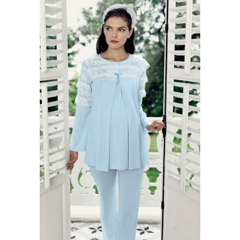Women's Blue Lohusa Lux Pajamas Set-7212-2 T1364