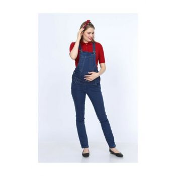 Pregnant Casual Cut Flexible Jeans Gardener Jumpsuit 18YPMBHC002