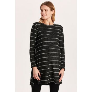 Women Anthracite Striped Le0 Maternity Wear Tunic 9WH253Z8