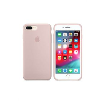 iPhone 8 Plus Plus Original Slim Silicone Rubber Case Back Cover - Light Pink MMQY2ZM / A-38