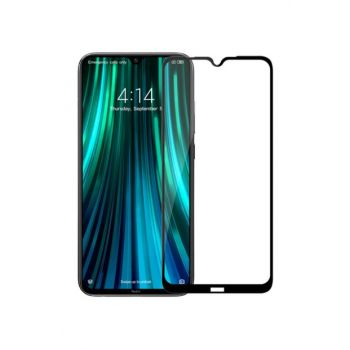 Redmi Note 8 Full Covering Tempered Glass Microsonic Screen Protector Black SG106-GLSS-XMI-RDMI-NTE8-CRVD-SYH