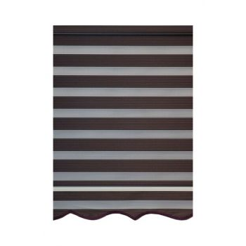 Narrow Pleated Series Brown 100x200 cm Zebra Curtain WITHOUT SKIRT 100x200 cm