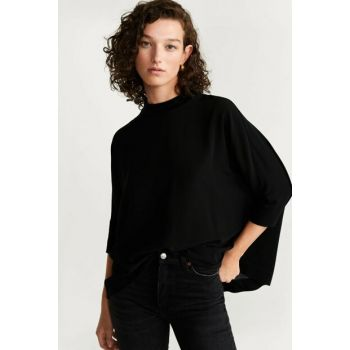Women's Black Cloak Sleeve Blouse 57007899