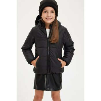 Hooded Zipper Coat M8553A6.19AU.BK27