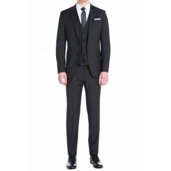 TK 756 Slim Fit Navy Blue Classic Suit TK756V1018