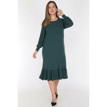 Women Green Green Skirt Frilly Dress 19C-0781