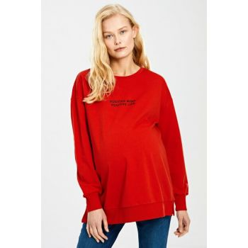 Women Vivid Red Gzx Sweatshirt 9WS284Z8
