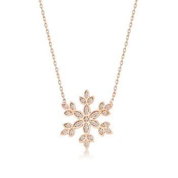 Women's 925 Snowflake Necklace MA_KL_1374