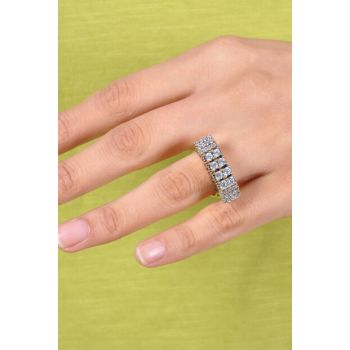 Women's Three Stone Authentic Sterling Silver Ring MGD20202093