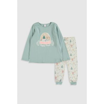 Girl's Pastel Blue G0S Pajamas Set 9WN047Z4