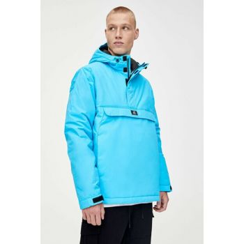 Men's Sky Blue Patched Coat 09714926
