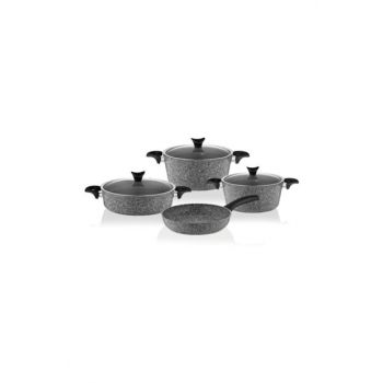 Master Cook 7 Piece Granite Cookware Set Gray 2852376