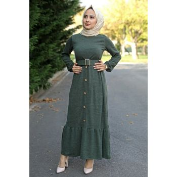 Belted Sweater Dress - Khaki 2032 04719KBELB02005