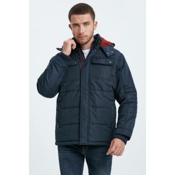 Men's Dark Blue Medium Coat 8W2780Z8