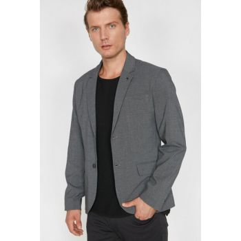 Men's Gray Button Detailed Jacket 0KAM51016NW