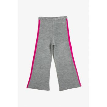 Gray Kids Striped Trousers 0KKG97364HT