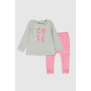 Baby Girl GRAY MELANGE CT3 Suit 9WT611Z1