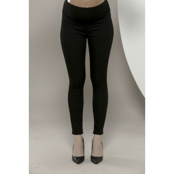 Maternity Black Cotton Trousers 3333P