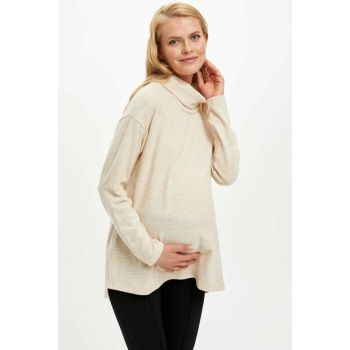 Women's Beige Relax Fit Long Sleeve Blouse M3011AZ.19WN.BG278
