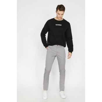 Men's Gray Trousers 9YAM42500BW