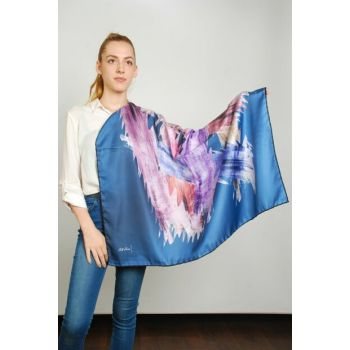 Women Multi Color Sport Polyester Scarf 9351217