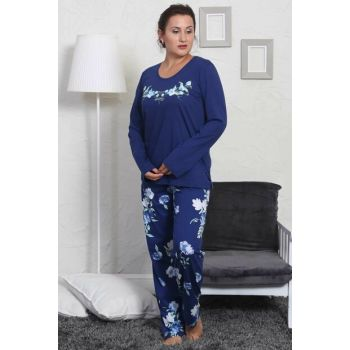 Women's Indigo Long Sleeve Sleepwear Set 803026 Y19W137-8030260004
