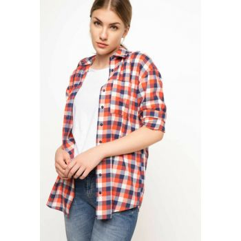Women's Printed Check Tunic H4715AZ.17AU.RD237